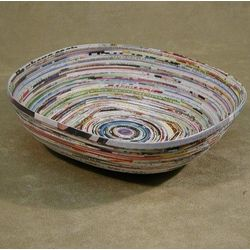 Recycled Magazine Paper Basket