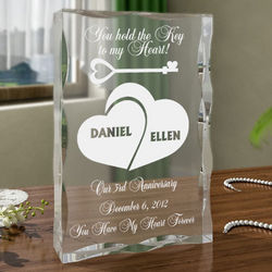 Personalized Key To My Heart Plaque