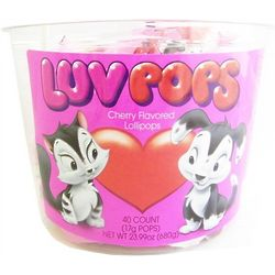 Cherry Flavored Luv Pops Tub