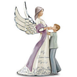 My Grandson, My Joy Musical Guardian Angel Figurine