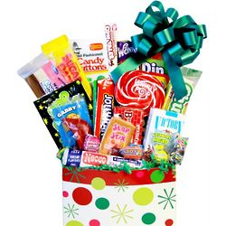 Polka Dot Retro Candy Basket