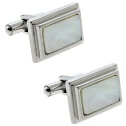 Mother of Pearl Stainless Steel Men Cufflinks
