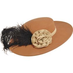 1890s Boater Ostrich Feather Hat