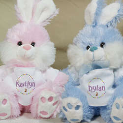 Personalized Plush Easter Bunny Toy