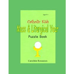 Kid's Catholic Mass and Liturgical Puzzle Book