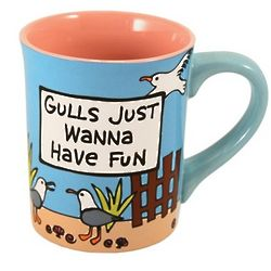 Gulls Just Wanna Have Fun Coffee Mug