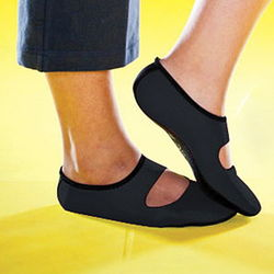 Nu Foot Black Slippers
