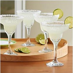 Personalized Margarita Glass Set