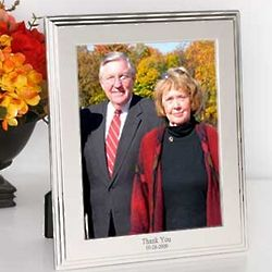 Silver-Plated Border Picture Frame