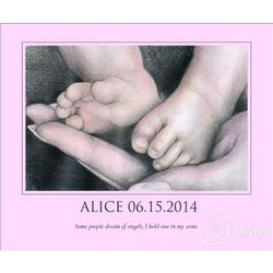 Baby Bliss Personalized Baby Girl Fine Art Print