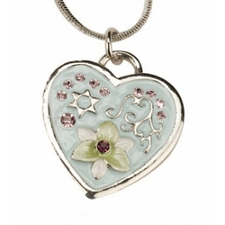 Heart with Jewish Star Necklace