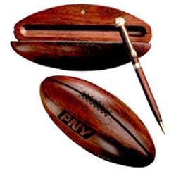 Ballpoint Pen in Rosewood Football Award Box
