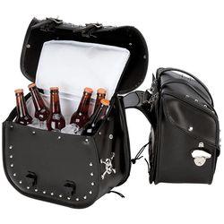 Beer Bags PVC Motorcycle Saddle Bag Set