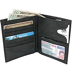Leather Attache Credit Card Wallet