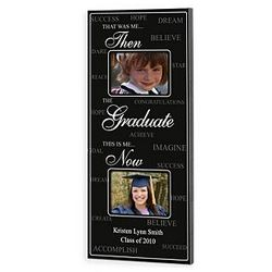 Personalized Then and Now Graduation Frame