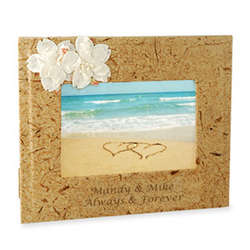 Beach Picture Frame With Island Flowers