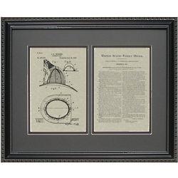 Fireman Helmet Patent Art