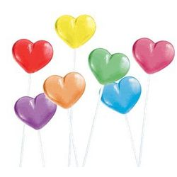 Heart Twinkle Pops in 7 Assorted Flavors