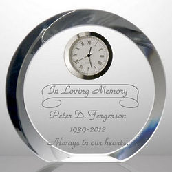 Crystal Memorial Desk Clock