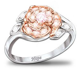 Rose Of Hope Ring for Breast Cancer