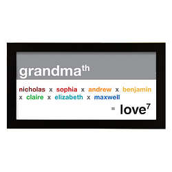 Grandma Exponential Love Personalized Wall Art