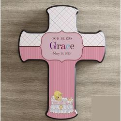 Personalized Precious Moments Christening Wall Cross