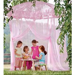 Sparkling Lighted Canopy Bower for Girl's Bed