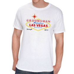 Personalized Las Vegas Design Groomsman T-Shirt