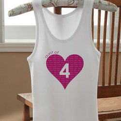 Personalized Mommy or Aunt of Tank Top