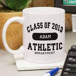 Personalized Athletic Department Graduation Coffee Mug