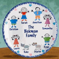 Personalized Family Plate