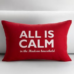 Small All Is Calm Pillow Cover and Insert