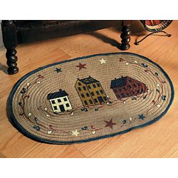 Americana Village Braided Jute Rug