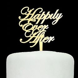 Happily Ever After Acrylic Cake Topper