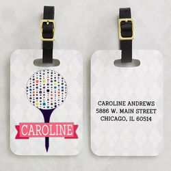Sassy Lady Personalized Golf Bag Tag