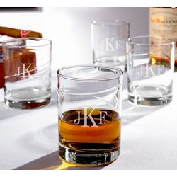 Vintage Islay Classic Monogram Whiskey Glasses