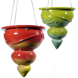 Contemporary Hanging Stoneware Planter