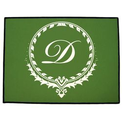 Elegant Monogram Personalized Door Mat