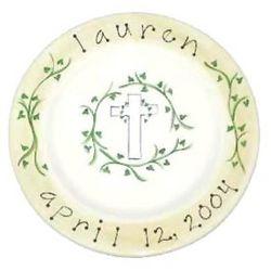 Christening/Baptism Handpainted Baby Plate