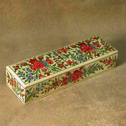 Springtime Paper Mache Jewelry Box