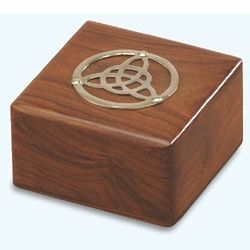 Small Wooden Celtic Box with Trinity Knot Design
