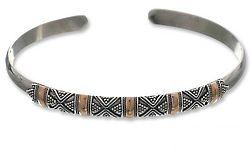 Hyacinth Sterling Silver Cuff Bracelet