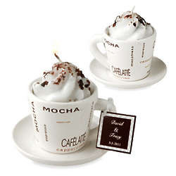 Capuccino Cup Candle with Chocolate Sprinkles
