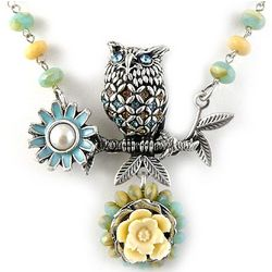 Artisan-Crafted Majestic Owl Necklace