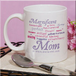 Magnificent Mom Personalized Coffee Mug