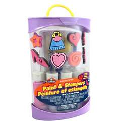 Elmer's Washable Paint with Funky and Fashion Stampers