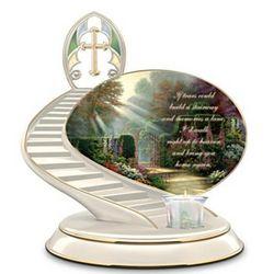 Thomas Kinkade Porcelain Bereavement Candleholder