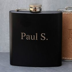 Personalized Black Matte Flask