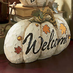 Welcome Decorative Pumpkin