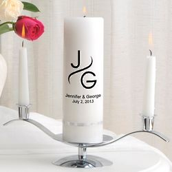 Monogram Premier Unity Candle and Stand